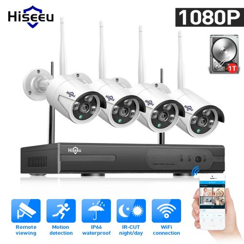 Hiseeu 4-Channel Wifi Home & Office Security System